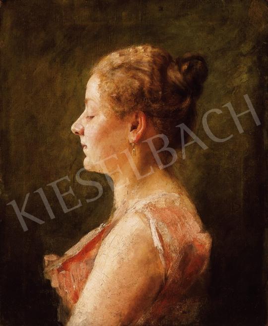 Hollósy Simon - Kontyos lány | 18. Aukció aukció / 65 tétel