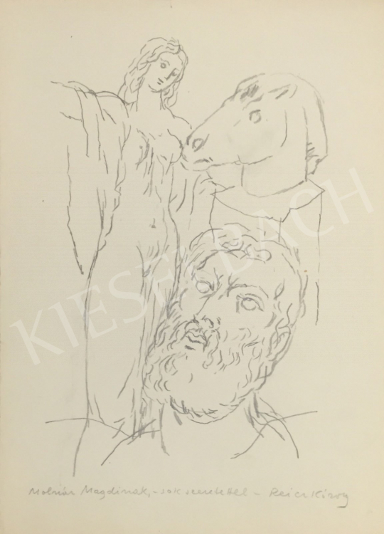 For sale Reich, Károly - The artist and his muse 's painting