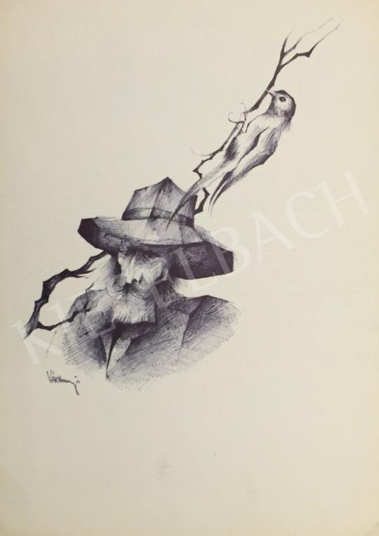 Eladó Várkonyi János - Madaras ember festménye