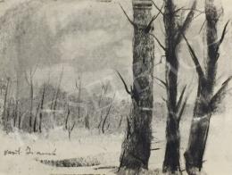 Ismeretlen művész - Havas tájkép