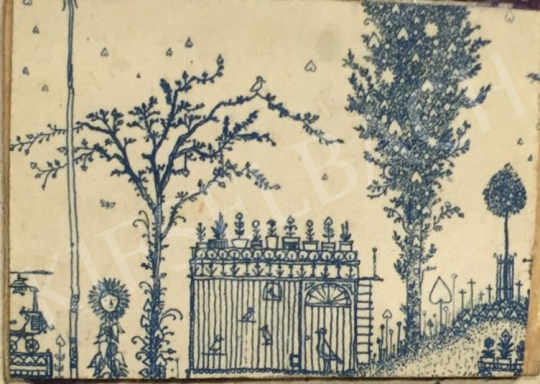 Eladó Gross Arnold - Díszes kapu festménye