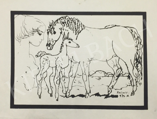 For sale Reich, Károly - Mother with her Child, Horse and Foal 's painting
