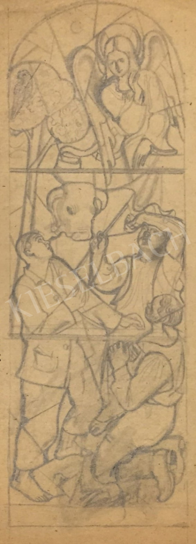 Eladó Pituk József - Az angyal hírül adja Jézus születését festménye