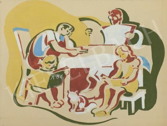 Eladó Pituk József - Család festménye