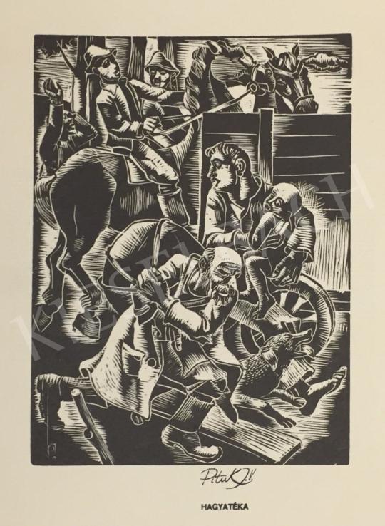 Eladó Pituk József - Menekülők festménye