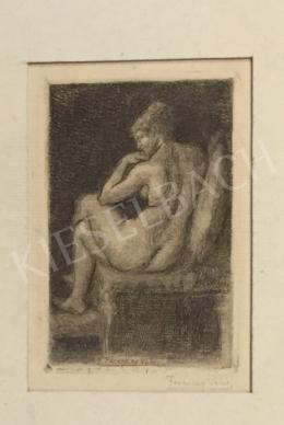 Ferenczy Valér - Ülő női akt
