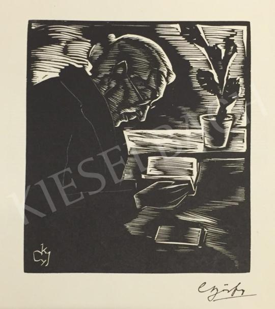 Eladó Győrfy K. József - Önarckép (Az író) festménye