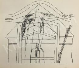Krajcsovics Éva - Épület vázlat
