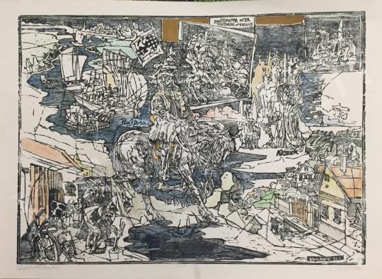 Eladó König Róbert - A svábok betelepülése festménye