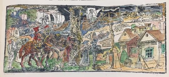 Eladó König Róbert - Die Ankunft festménye
