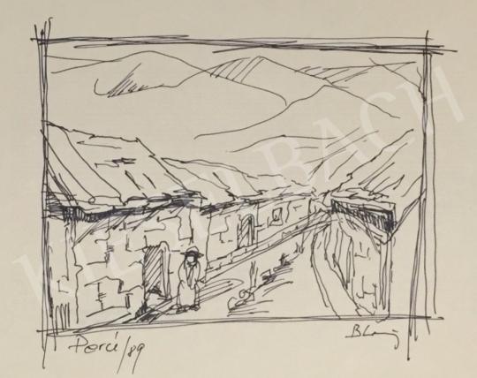 Eladó  Bleier Pál - Perui utca I. festménye