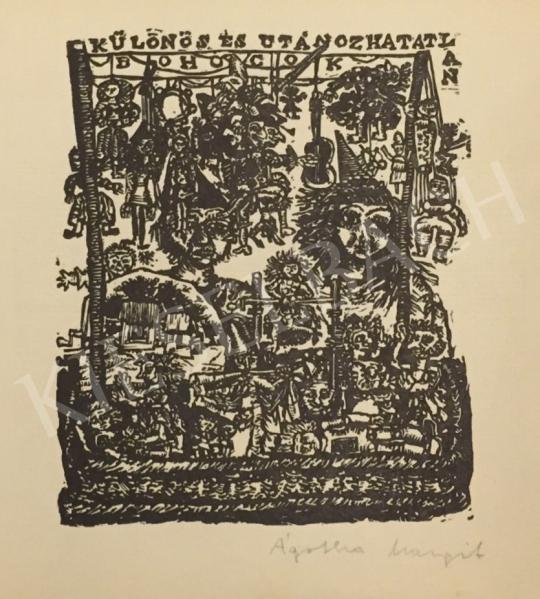 Eladó  Ágotha Margit - Különös és utánozhatatlan bohócok festménye