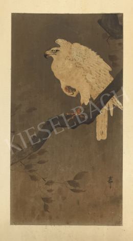Unknown Artist with Unreadable Signature - A Bird Sitting on a Tree