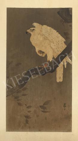 Ismeretlen művész olvashatatlan szignóval - Faágon ülő madár