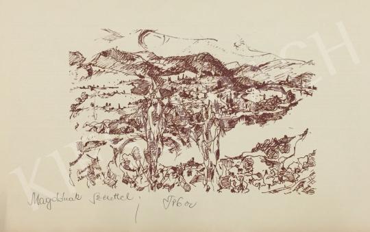 Eladó  Baracsi Tibor - Zebegényi táj festménye