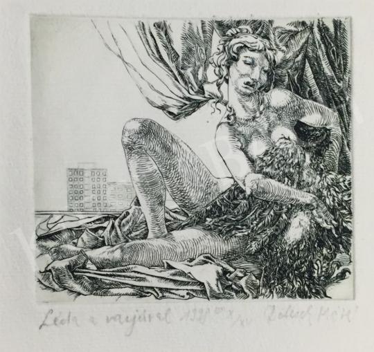 Eladó  Dolcsek Máté - Léda a varjúval, 1998 festménye