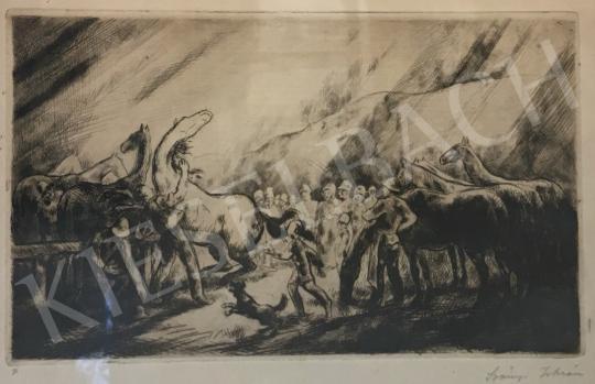 Szőnyi, István - Scene with Horses painting