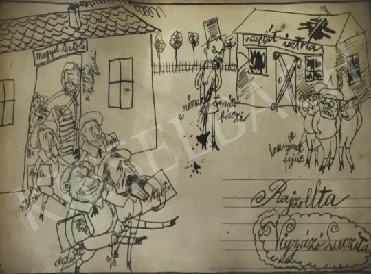 Eladó  Ismeretlen művész Vigyázó Lacika szignóval - Magyal isztola - Osztlát isztola festménye