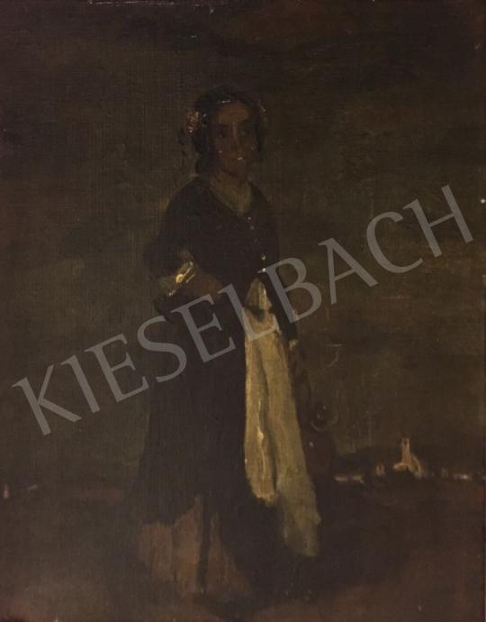 Eladó  Rudnay Gyula - Fiatal lány hajdísszel a hajában festménye