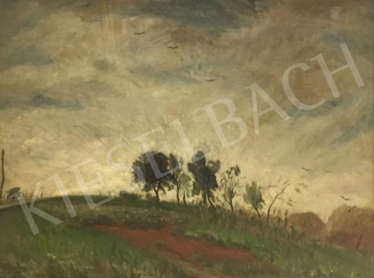 Eladó  Rudnay Gyula - Táj gomolyfelhőkkel festménye