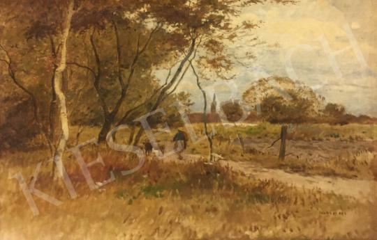 For sale Deák Ébner, Lajos - Autumn View with Alley 's painting