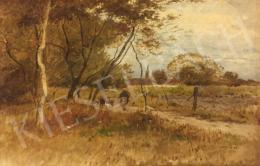 Deák-Ébner Lajos - Őszi látkép fasorral