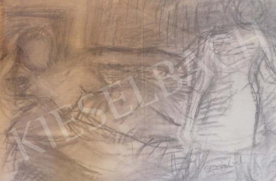 Eladó  Czóbel Béla - Fekvő női akt festménye