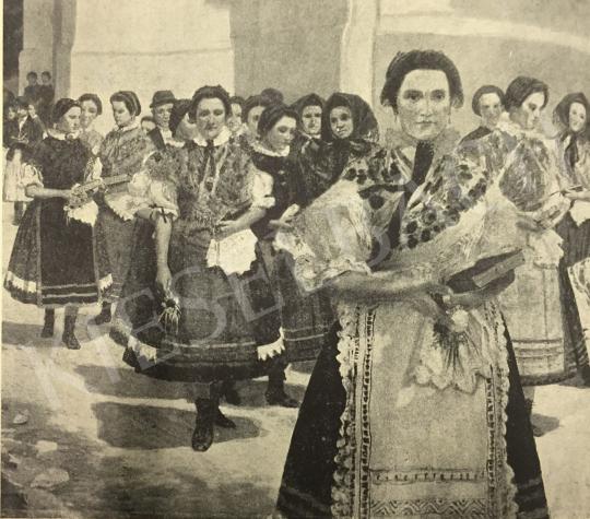 Nádler Róbert - Mise után festménye