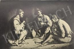 Rudnay, Gyula - Beggars Playing Cards