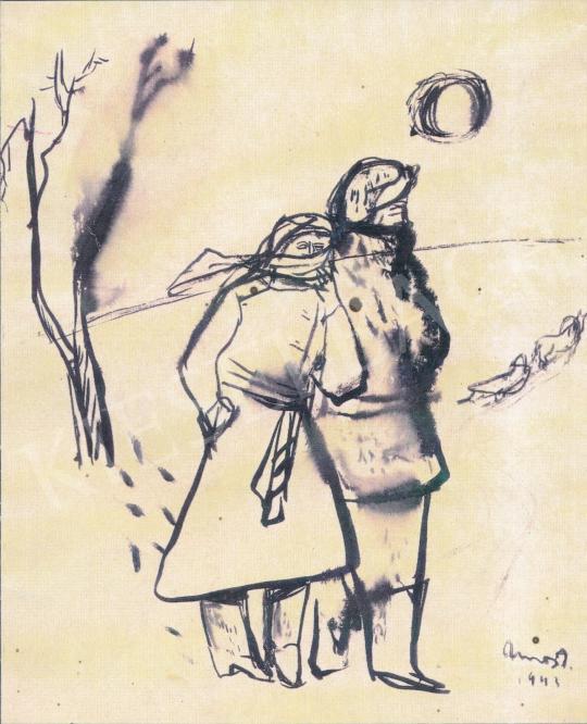 Ámos, Imre - Snowfields, 1943 painting