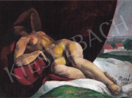 Patkó, Károly - Laying Nude, 1921