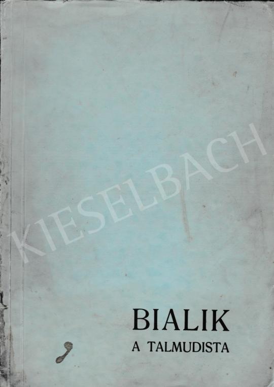 For sale Adler, Miklós (Adler, Cvi) - Nayim Nahman Bialik: The Talmudist (volume with 12 woodcut by Miklós Adler) 's painting