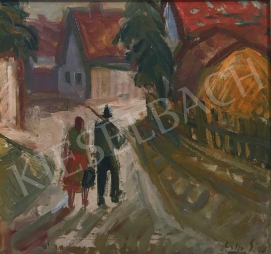 Eladó  Kelle Sándor - Hazafelé, 1961 festménye