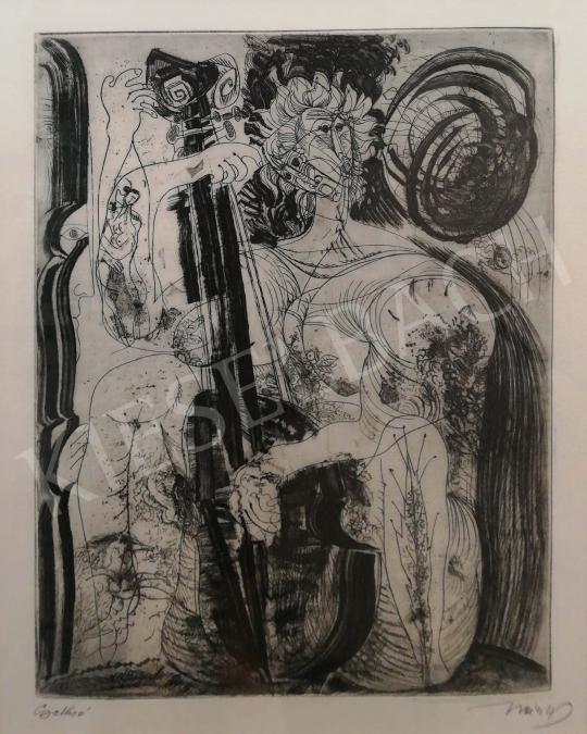 Hincz Gyula - Csellózó festménye