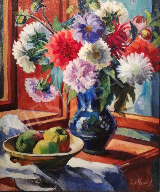 Ziffer Sándor - Virágcsendélet festménye