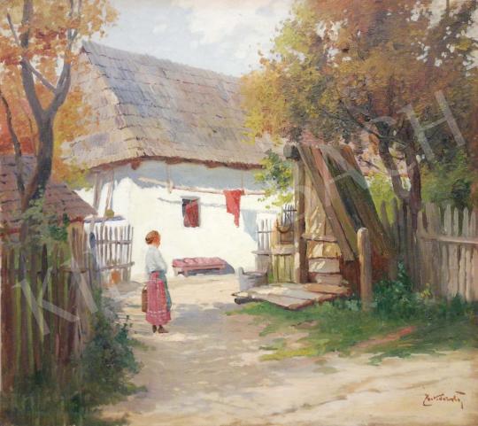 Eladó Zorkóczy Gyula - Falusi jelenet festménye