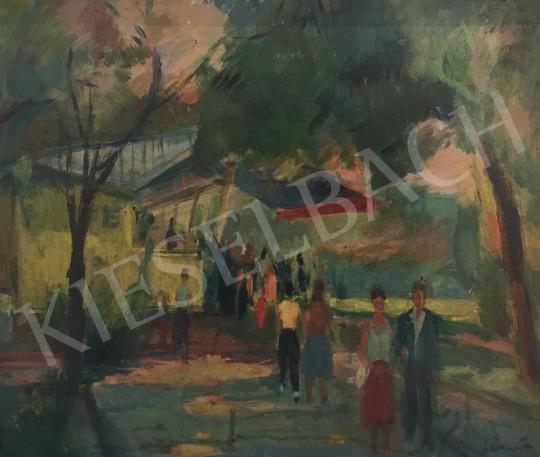 Eladó Kemény Zsigmond - Büfé (Majálisról hazafelé) festménye