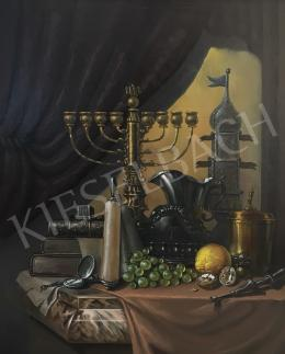 Unknown Hungarian painter - Menora (Still Life with a Candelabra)