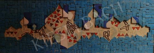 Eladó Hegyi György - Városkép kékben festménye