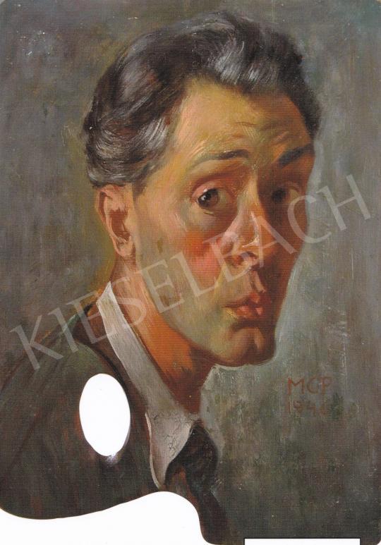 Molnár C. Pál - Önarckép, 1946 festménye