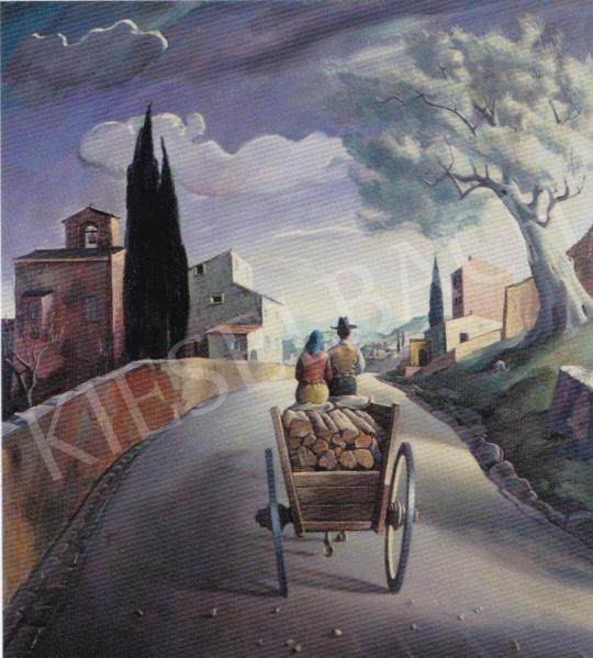 Molnár C. Pál - Úton festménye