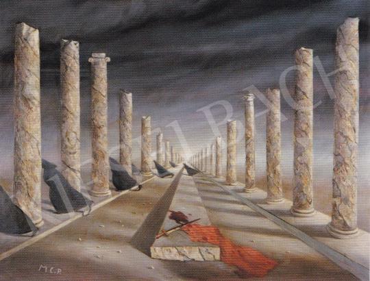 Molnár C. Pál - Cézár halála festménye
