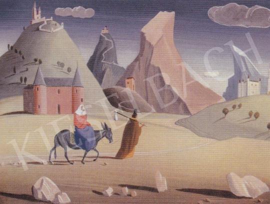 Molnár C. Pál - Menekülés Egyiptomba festménye