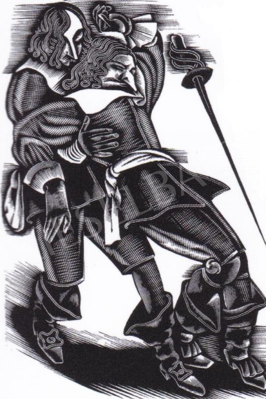 Molnár C. Pál - Cyrano de Bergerac festménye