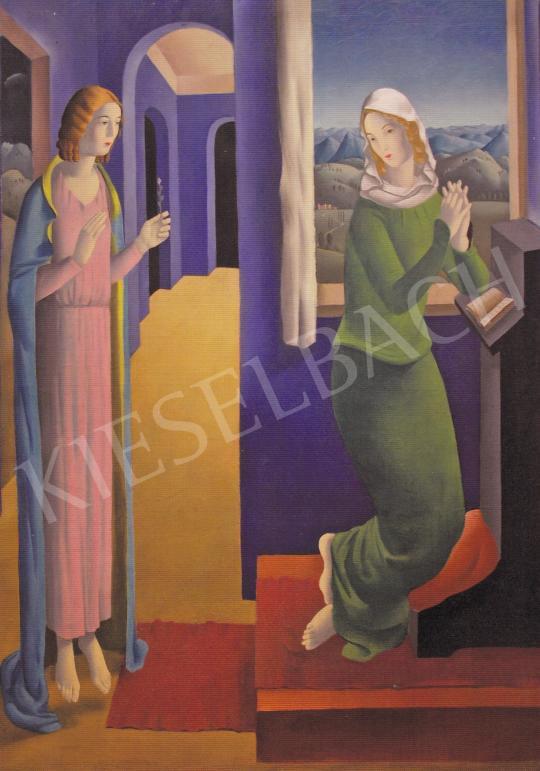 Molnár C. Pál - Angyali üdvözlet festménye