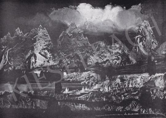 Molnár C. Pál - Tengerszem az Alpokban festménye