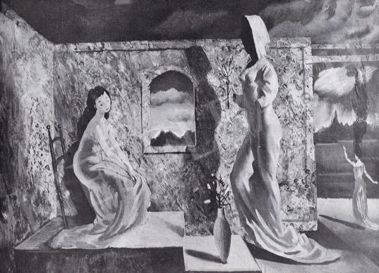 Molnár C. Pál - Égi Üzenet festménye