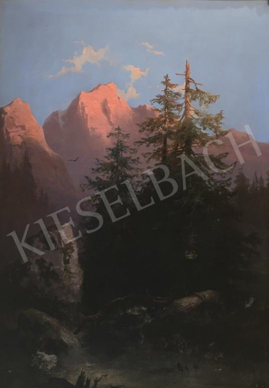 Eladó Ismeretlen osztrák művész - Hegyvidéki táj festménye