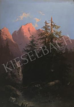 Ismeretlen osztrák művész - Hegyvidéki táj
