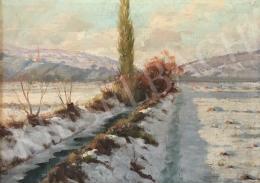 Zombori Moldován, Béla (Zombory-Moldován Béla - Winter Landscape with Brook